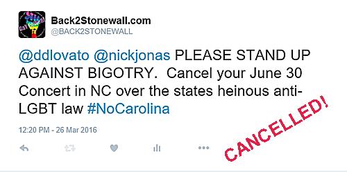 Nick Jonas cancels North Carolina concert
