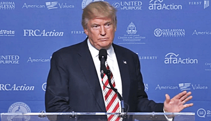 "Donald Trump Vows To Uphold ""Religious Liberty"" At FRC Hate Group's Values Voters Summit In D.C."