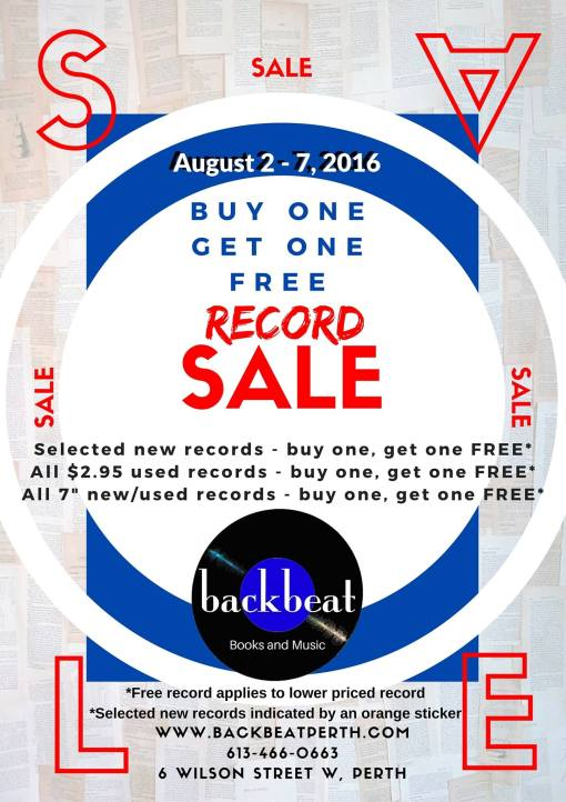 Buy One Get One FREE Record Sale