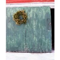 Holiday Barn Door Printed Backdrop   Backdrop Express