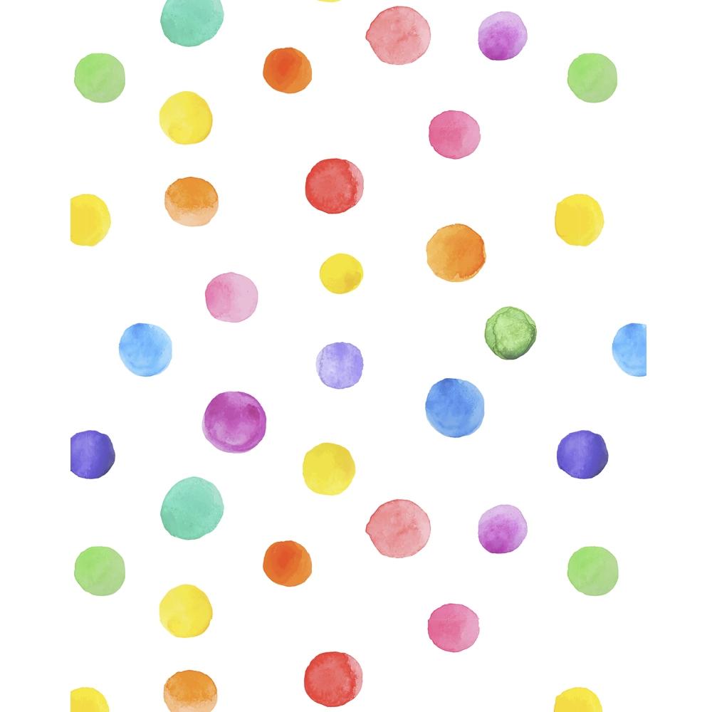 Diaper Girl Wallpaper Watercolor Polka Dots Printed Backdrop Backdrop Express