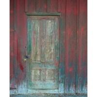 Rustic Barn Door Printed Backdrop   Backdrop Express
