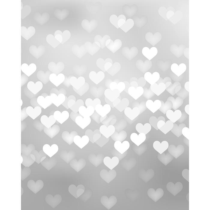 Black Glitter Wallpaper Silver Heart Bokeh Printed Backdrop Backdrop Express