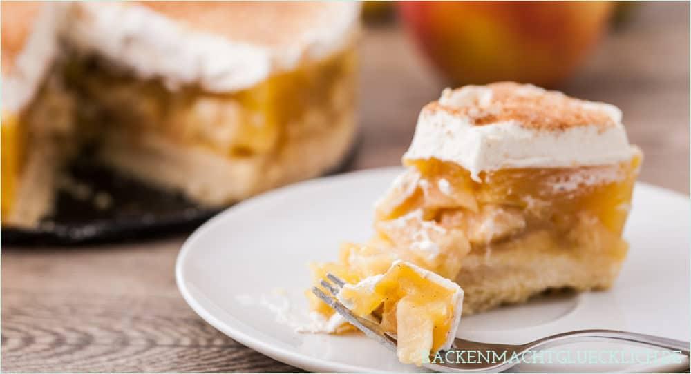 Apfeltorte mit Sahne und Zimt Backen macht glücklich - geschenke aus der küche rezepte