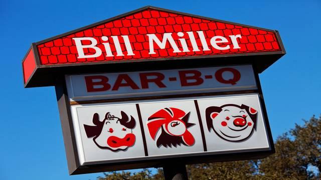 Bill Miller Bar-B-Q Back of the Menu