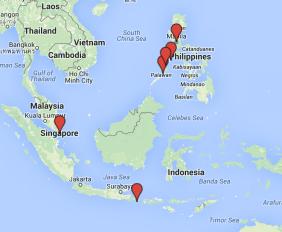 bali indonesia philippines singapore palawan backpacker travel budget summary