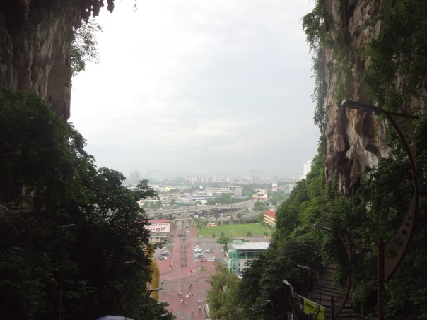 View from outside of Batu Caves (Malaysia, 2016).
