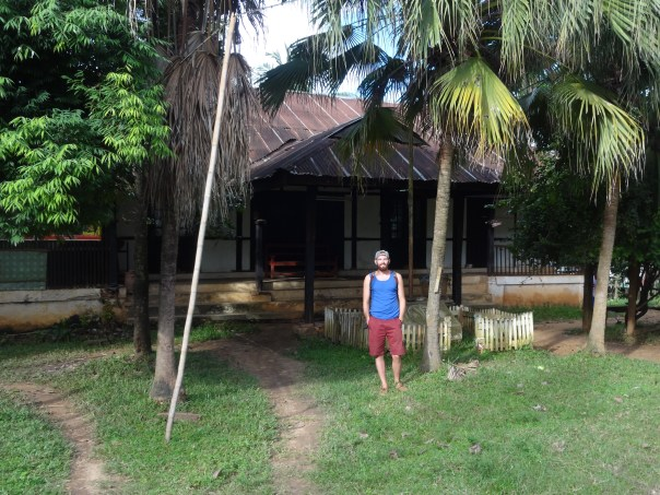 Me in front of George Orwell's house (Myanmar, 2016).