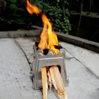 Lixada Lightweight Compact Stainless Folding Wood Stove for Outdoor Camping Cooking Picnic, Compact Design Perfect for Survival,Hunting & Emergency Preparation