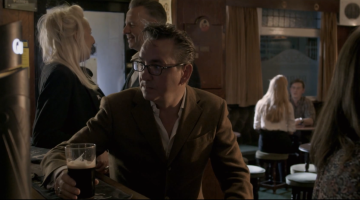 Richard Hawley enjoying a famously smooth Guinness from the charmed pumps of favourite haunt Fagan's