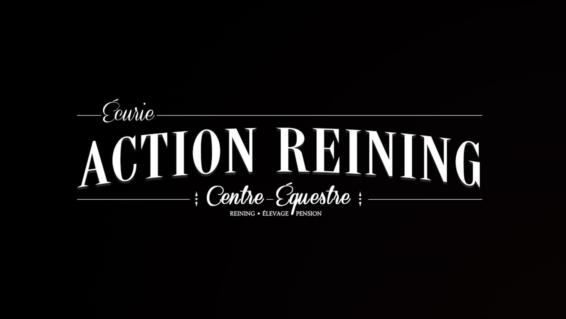 2 action reining logotype creation logo