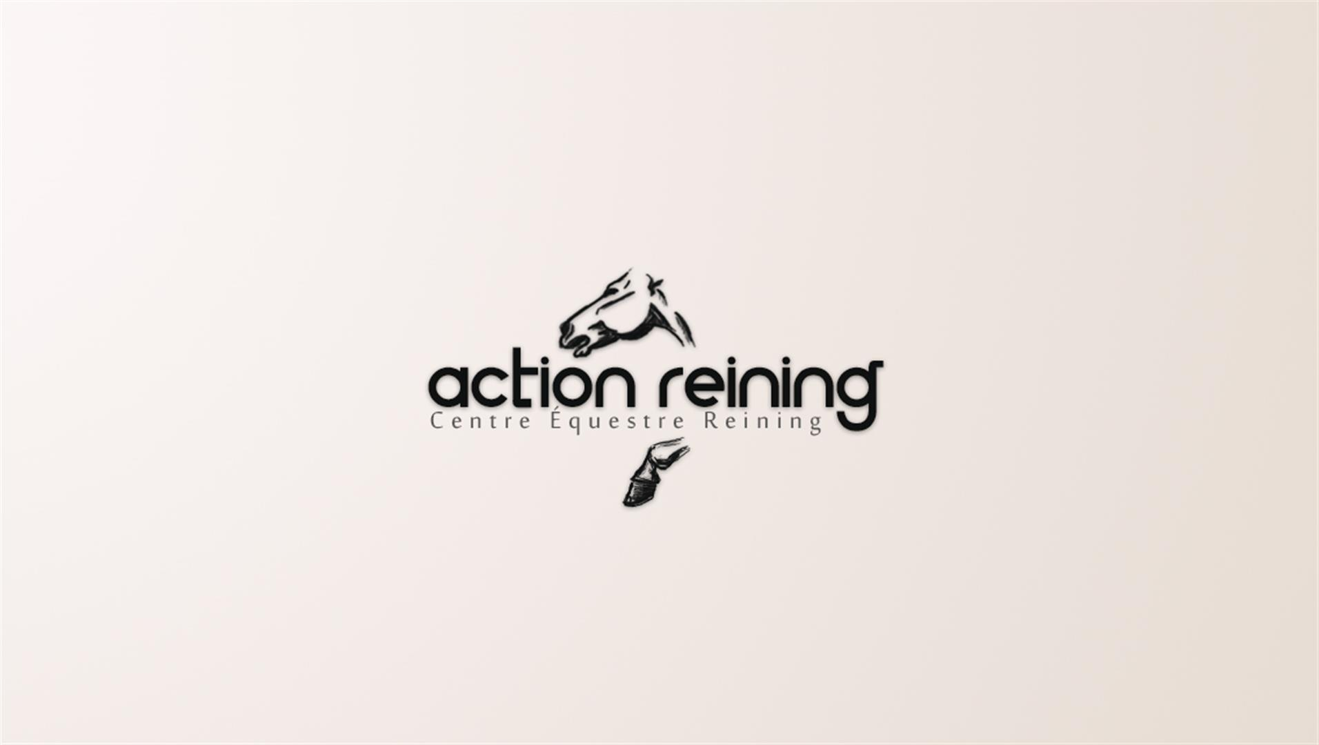 4 action reining logotype creation logo