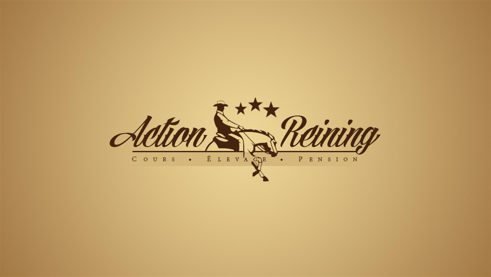 3 action reining logotype creation logo