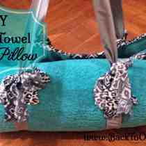 DIY Beach Towel with Pillow