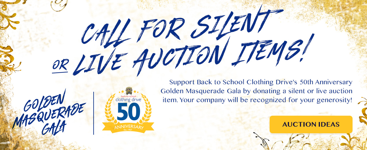 Calling for Silent Auctions \u2013 Basket Ideas \u2013 Back-to-School Clothing