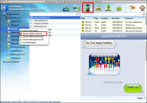 iPhone Backup Extractor - Recover iPhone Data from iTunes Backup