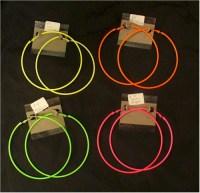 Extra large hoop earrings: neon - Backward Glances