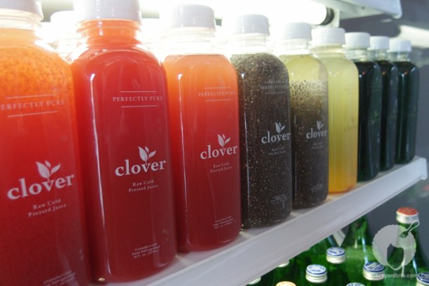 Juices at Clover Juice Bar