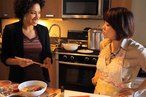 Amy Shuster of Backyard Bite with Foodstory founder, Yoko Isassi