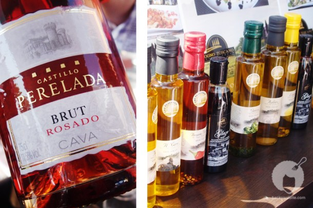 Castillo Perelada  Brut Cava and The Flavored Olive Oil by Sogno Toscano