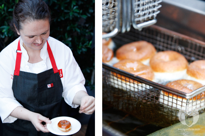 Chef Mariah Swan and her Salt and Pepper donuts - Delicious!