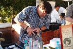 Chef Ming Tsai makes a cocktail of vodka, sake and cucumber