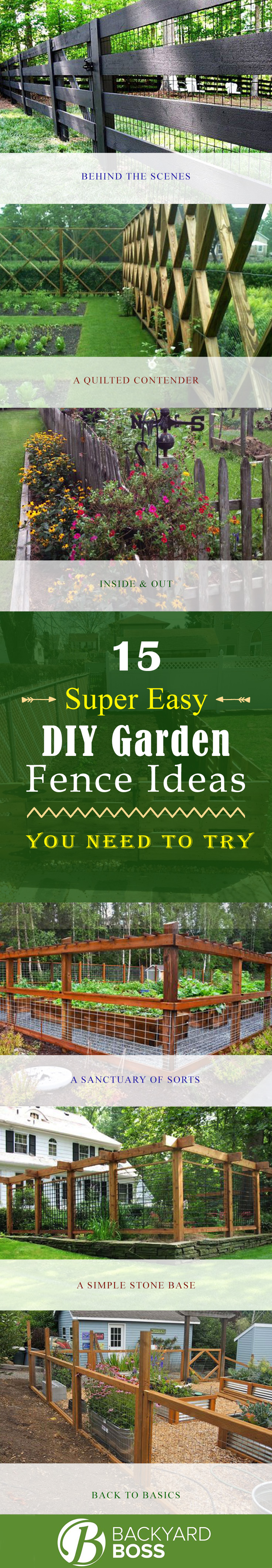 Magnificent 15 Super Easy Diy Garden Fence Ideas You Need To Try 1 Backyard Fence Diy Diy Backyard Fence No Dig outdoor Diy Backyard Fence