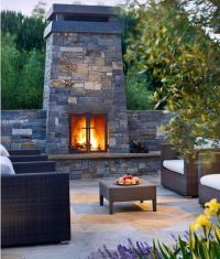 Patio Fireplace With Chimney - Frasesdeconquista.com