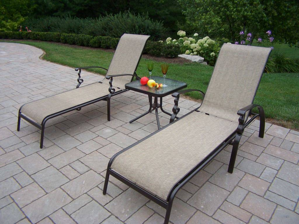 Dumont Sling Patio Chaise Lounge OUTDOOR PATIO DINING CHAIRS SLING ALUMINUM | Chair Pads & Cushions