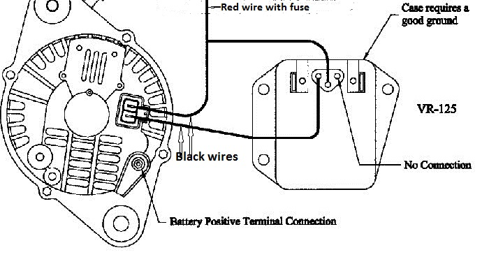 two wire ford alternator wiring
