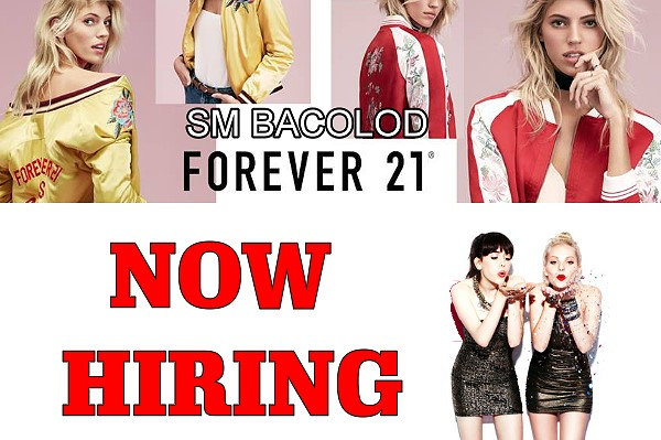 FOREVER 21 SM Bacolod now Hiring Sales Associates and Stock