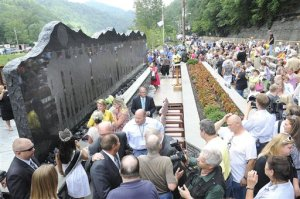 Upper Big Branch memorial in Whitesville
