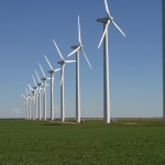 A wind farm in Texas