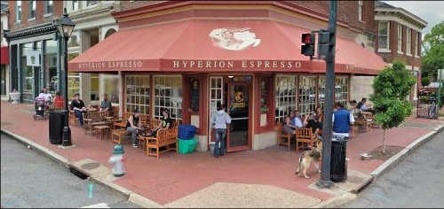 Hyperion Espresso, in downtown Fredericksburg, one of America's great small-town coffee shops.
