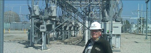 The proposed 500 kv line would connect with the transmission infrastructure at the Surry Power Station, as seen in this photo of the Surry switchyard.