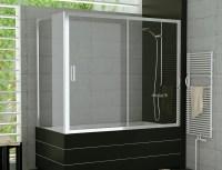 Badewanne Schiebetr mit Seitenwand Duschabtrennung Dusche ...