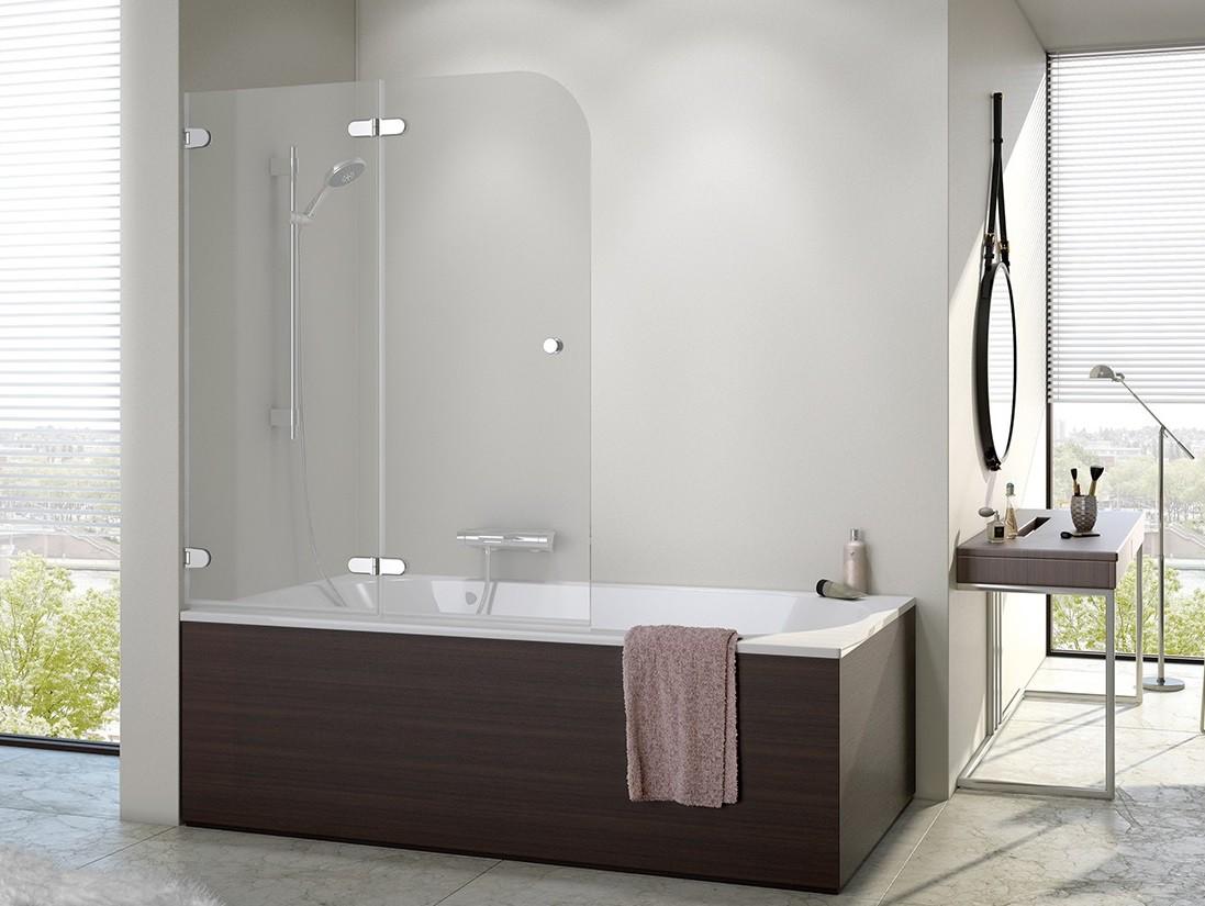 Badewannenfaltwand 120 x 140 cm Duschabtrennung Dusche