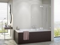 Badewannenfaltwand 100 x 140 cm Duschabtrennung Dusche