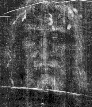 The face as revealed in Secondo Pia's negative