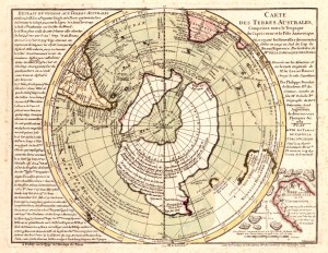Philippe Buaches map of the Antarctic lands