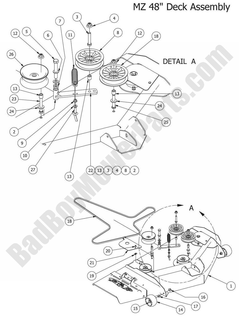 Bad Boy Mower Wiring Diagram Auto Electrical 1990 Dodge Spirit 2010 Mz Kawasaki 22 Hp 45