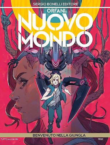 Orfani - Nuovo Mondo 4: Benvenuto nella giungla, copertina di Matteo De Longis