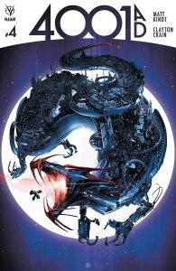 4001 AD #4, copertina di Clayton Crain