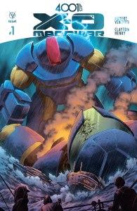 4001 Ad X-O Manowar, copertina di Clayton Henry