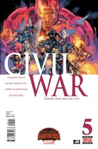 Civil War #5, copertina di Leinil Francis Yu