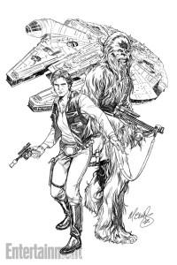 Han Solo #1, sketch 1