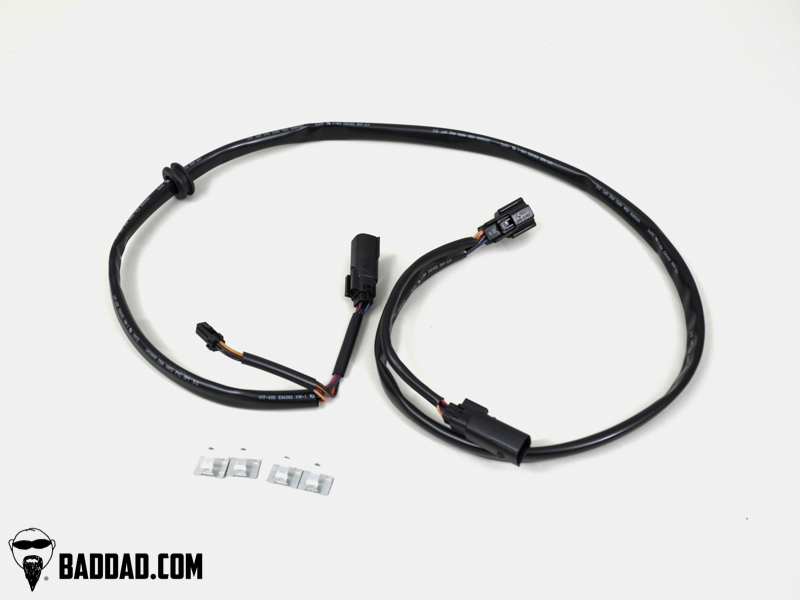harley audio wiring harness