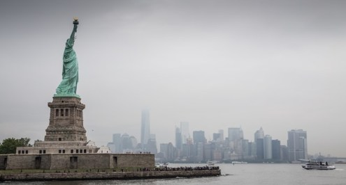 Statue that guards New York