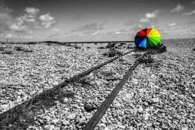 Dungeness rail tracks by Richie