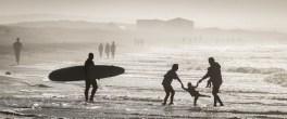 Fun at the beach, R Huckett
